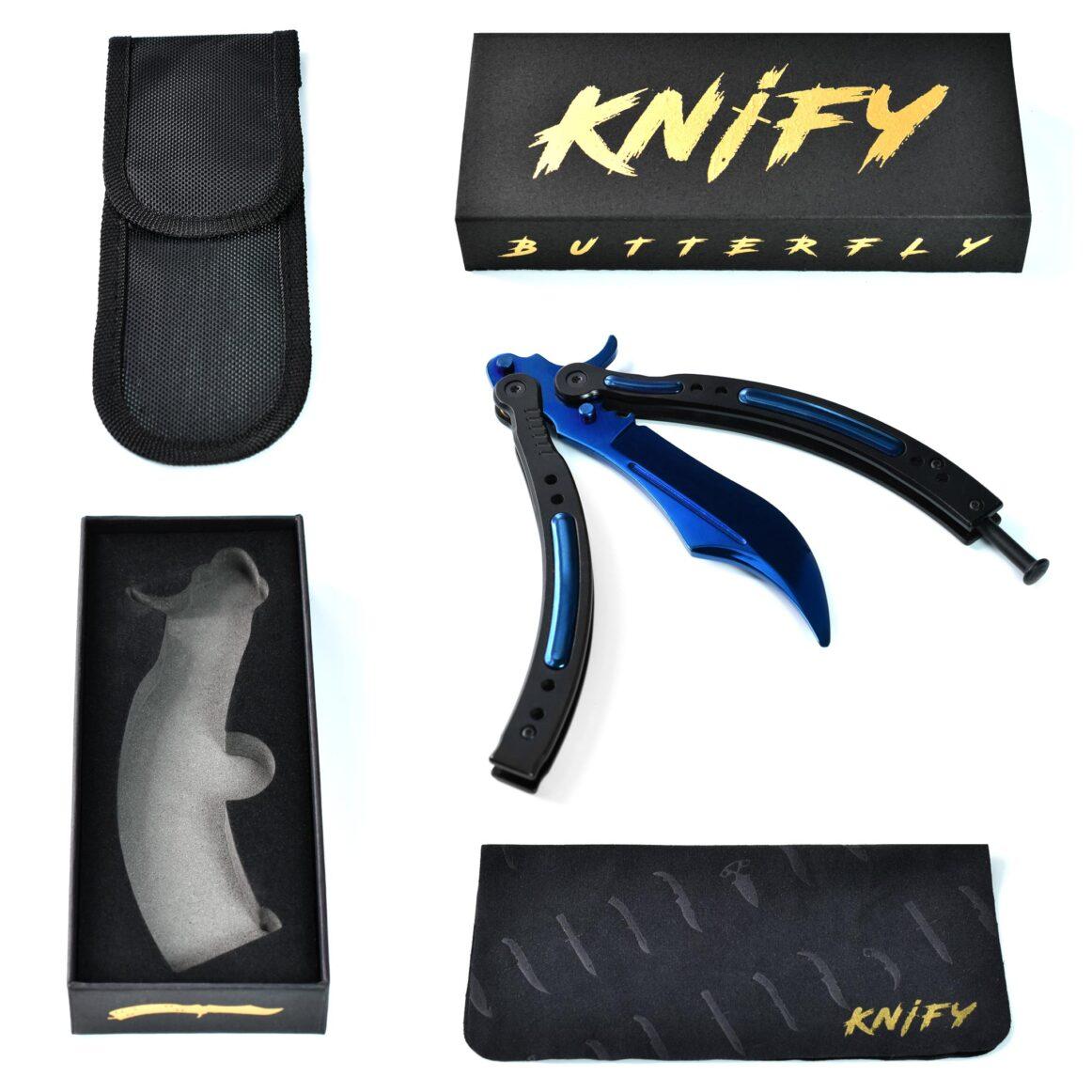 Real CS:GO Butterfly Blue Steel - IRL CS GO Knife