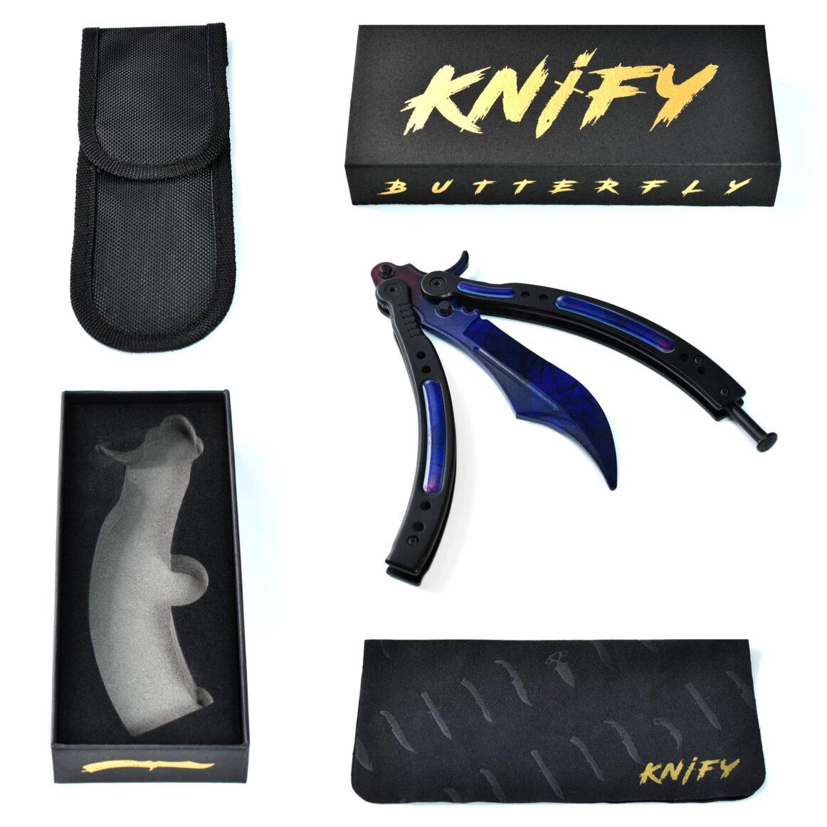 Real CS:GO Butterfly Doppler Blackpearl - IRL CS GO Knife