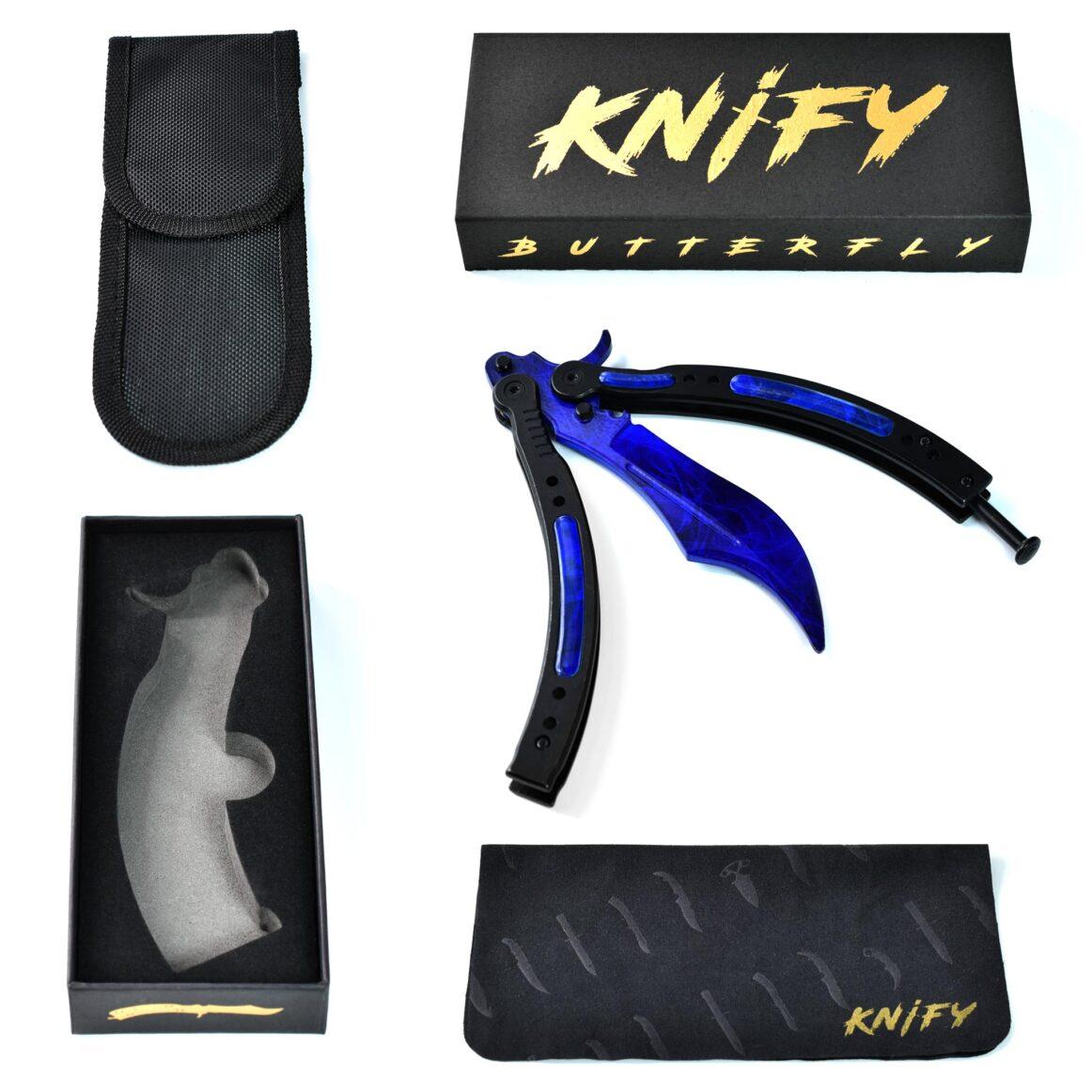 Real CS:GO Butterfly Doppler Sapphire - IRL CS GO Knife