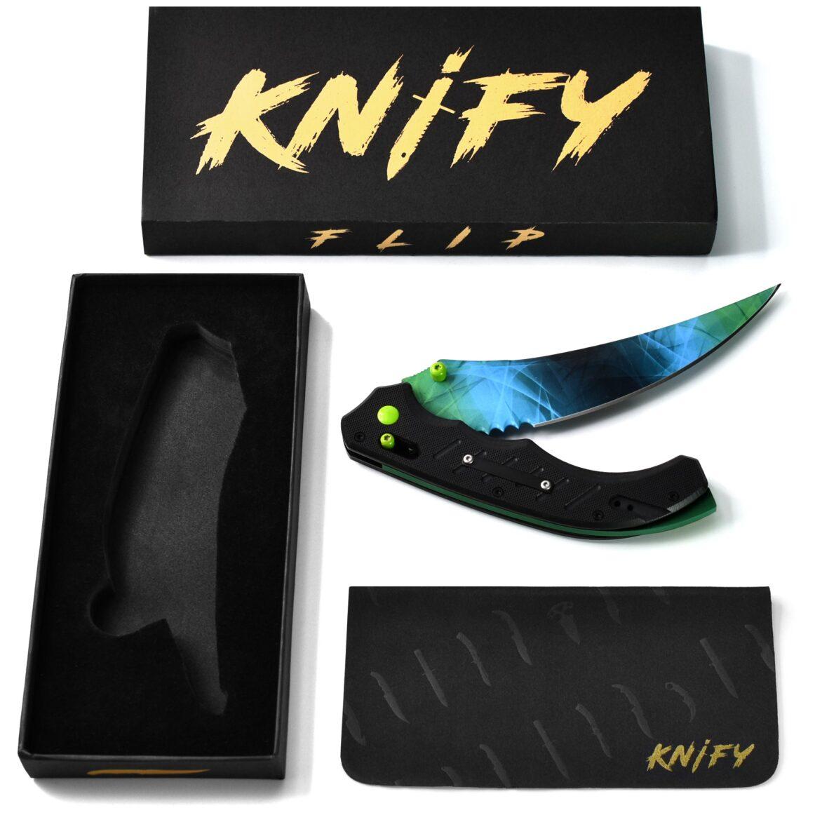 Real CS:GO Flip Gamma Doppler Phase4 - IRL CS GO Knife