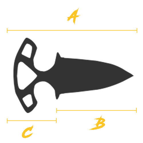 Size guide shadow daggers