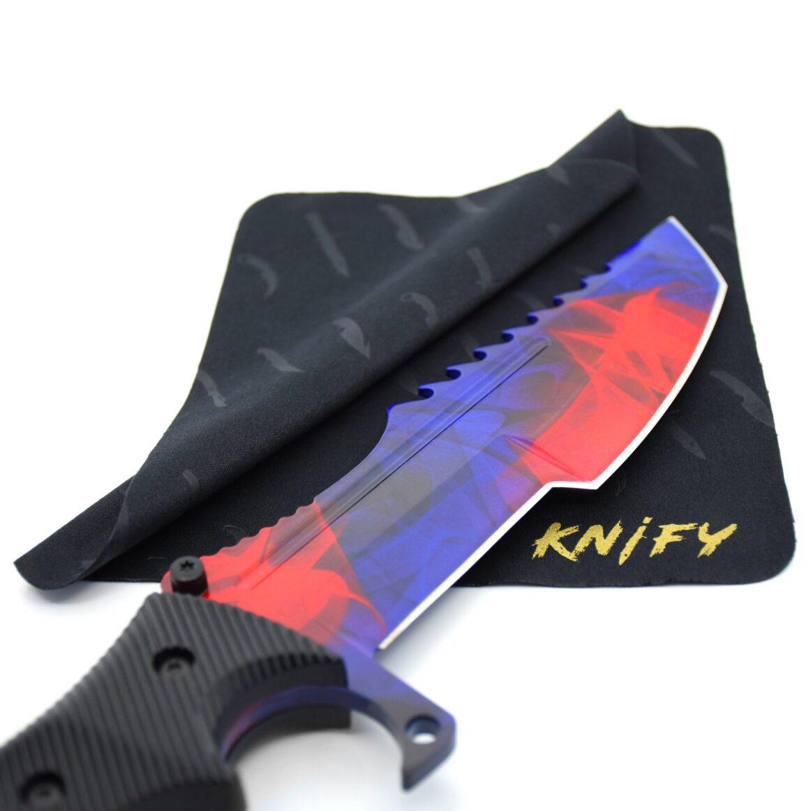 Couteau CS:GO IRL Huntsman Doppler Phase 2 - Vrai Couteau de chasseur Doppler Phase 2
