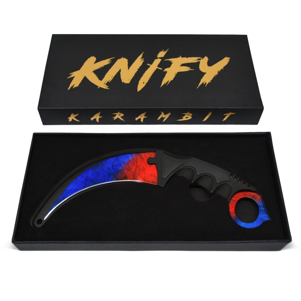 Couteau CS:GO IRL Karambit Marble Fade - Vrai Couteau Karambit Marbre Fondu