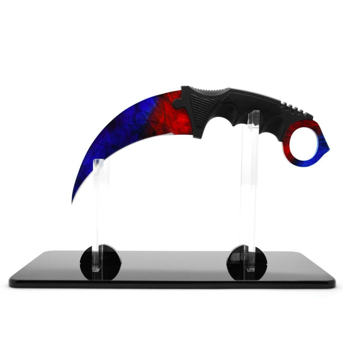 Présentoir Couteau CS:GO IRL Karambit Marble Fade - Vrai Couteau Karambit Marbre Fondu