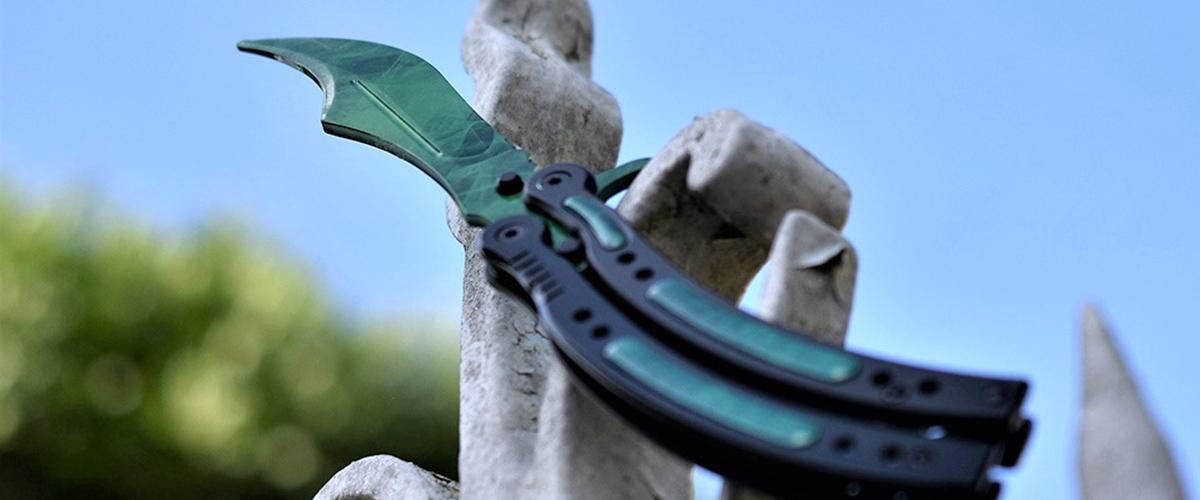Real CS:GO Butterfly Emerald - IRL CS GO Knife