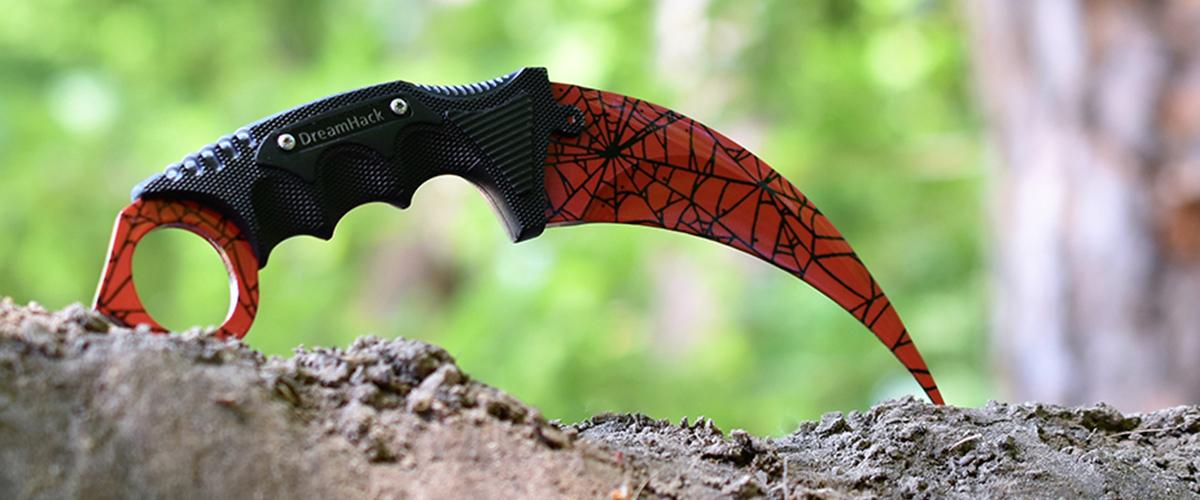 Real CS:GO Karambit Crimson Web - IRL CS GO Knife