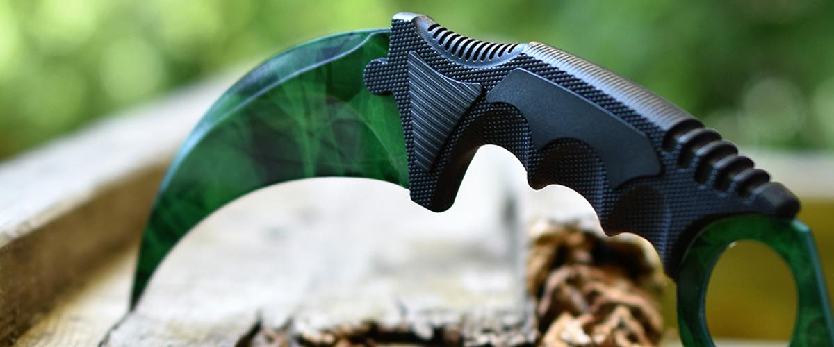 Real CS:GO Karambit Doppler Emerald - IRL CS GO Knife
