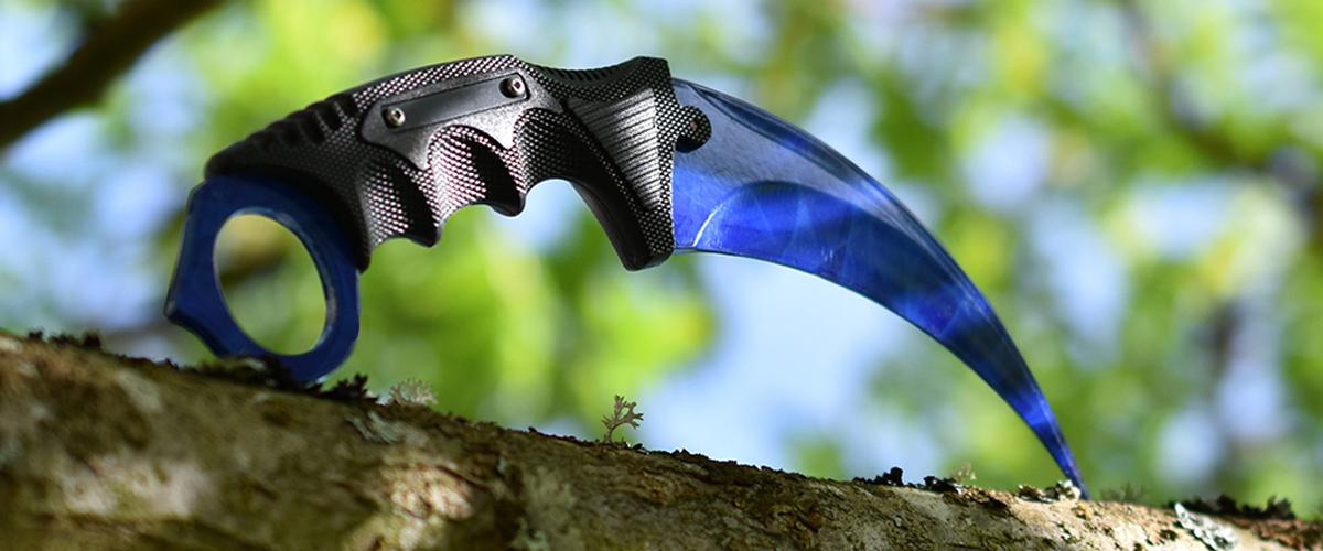 Real CS:GO Karambit Sapphire - IRL CS GO Knife