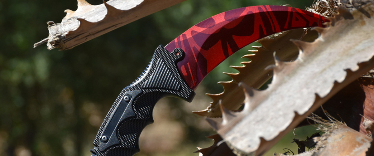 Couteau CS:GO IRL Karambit Slaughter - Vrai Couteau Karambit Carnage