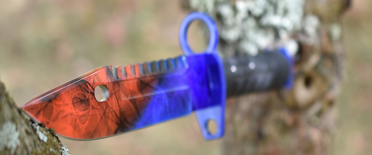 Real CS:GO M9 Bayonet Marble Fade - IRL CS GO Knife