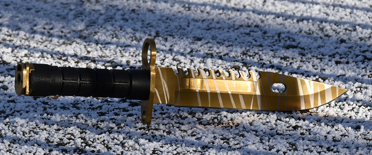 Real CS:GO M9 Bayonet Tiger Tooth - IRL CS GO Knife