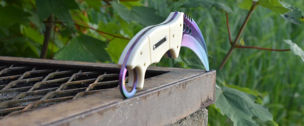 Couteau CS:GO IRL Talon Fade - Vrai Couteau Canif Dégradé