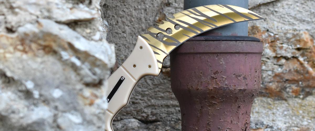 Real CS:GO Talon Tiger Tooth - IRL CS GO Knife